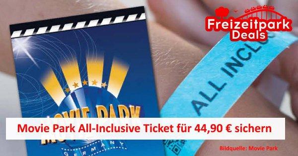 Sommer Special MOVIE PARK All-Inclusive (Getränke und Essen) für EUR 44,90 @Movie Park Bottrop