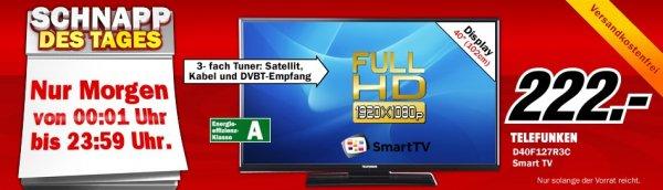 [Media Markt] Schnapp des Tages 15.08.: TELEFUNKEN D40F127R3C für 222 €