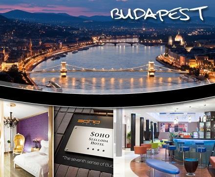 2 Nächte für 2 Pers. im stylischen Soho Boutique Hotel**** in Budapest für 99€ statt 269€ mit ANIMOD @Dailydeal