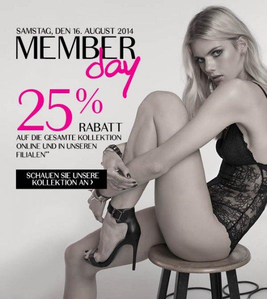 25% auf alles bei Hunkemöller, Online und Offline, nur am Samstag!