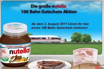 Nutella 400g + 10 Bahngutschein bei Kaisers NRW für nur 1,11 € 15.08 - 20.08.2011