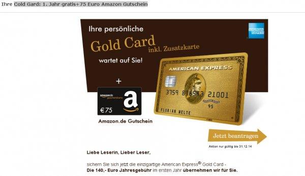American Express für 1 Jahr kostenlos + 75€ Amazon Gutschein @ GMX