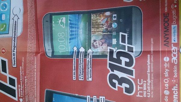 [Lokal, MM Friedrichshafen] HTC One Mini 2 für 315€ / Idealo.de ab 364,98€ , Wiko Rainbow für 125€ / Idealo.de ab 149€ , ...
