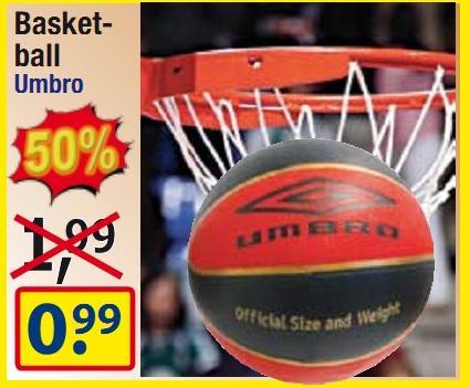 Umbro Basketball für 99 Cent - lokal @ centershop