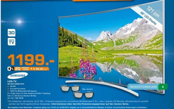 Lokal: Saturn Weiterstadt und Darmstadt: Samsung UE 48 H 8090 für 1199€ statt 1799€ und Sonos Playbar und SUB für je 599 statt 649