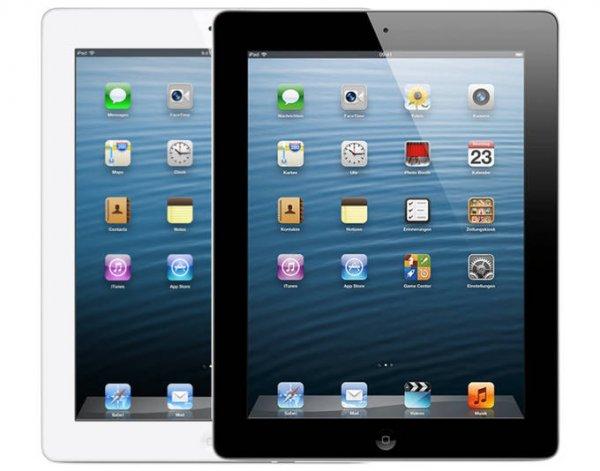 APPLE iPad Retina (4. Generation) Wi-Fi + Cellular (4G), 64GB, weiß / schwarz @meinpaket 489,-€
