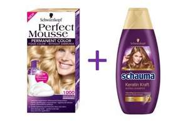 [MÜLLER] Schwarzkopf Perfect Mousse Coloration + Schauma Shampoo 400ml für 2,99€