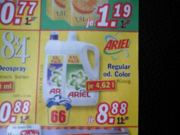 (lokal+offline) Ariel regular oder color 66 wl fur 8,88€,1 wl =0,13€ @ Zimmermann Sonderposten