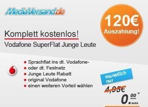 Vodafone Superflat für junge Leute komplett kostenlos inkl. Flatrate und Frei-SMS