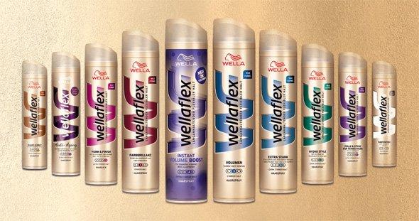 [NETTO o. HUND] 3x Wellaflex Haarspray,-lack/Schaumfestiger 250ml/200ml für 2,40€ = 0,80€/Stück