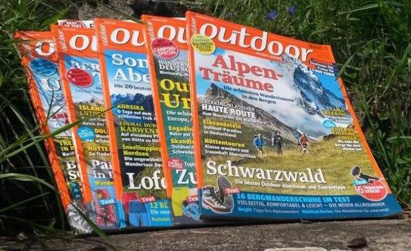 """5 Ausgaben """"outdoor"""" mit 52% Fan-Rabatt für € 11,90 (statt € 25,00) versandkostenfrei + Geschenk"""