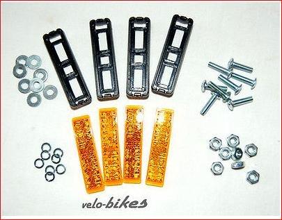 Pedalreflektoren, Pedal-Reflektor fürs Fahrrad zum anschrauben 20stück, variabler Lochabstand