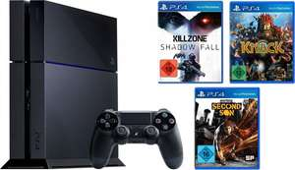PlayStation 4 mit Knack, Killzone und Infamous für 404€ bei Amazon.de