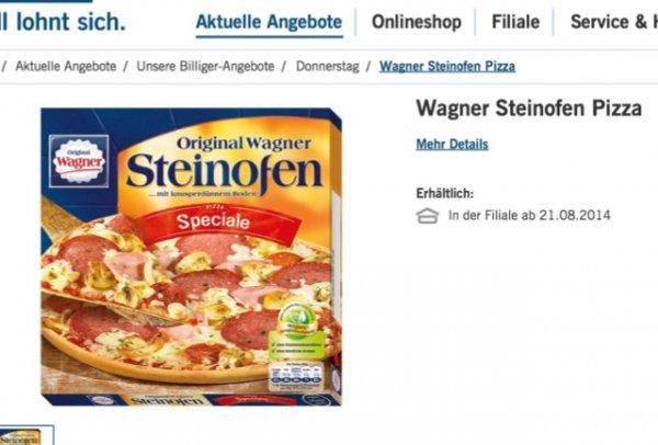 LIDL  Wagner Steinofen Pizza 1,66,- verschiedene Sorten :):)  ab 21.08.