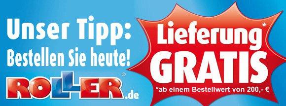[ROLLER.de] NUR heute versandkostenfrei beim Möbelhaus ROLLER bestellen (MBW 200€)