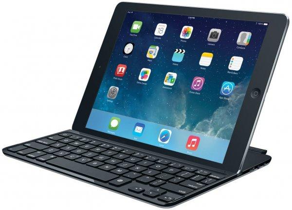 Logitech Ultrathin Keyboard Cover für iPad Air Schwarz (deutsches Tastaturlayout, QWERTZ) für 59€ frei Haus @Amazon Blitz