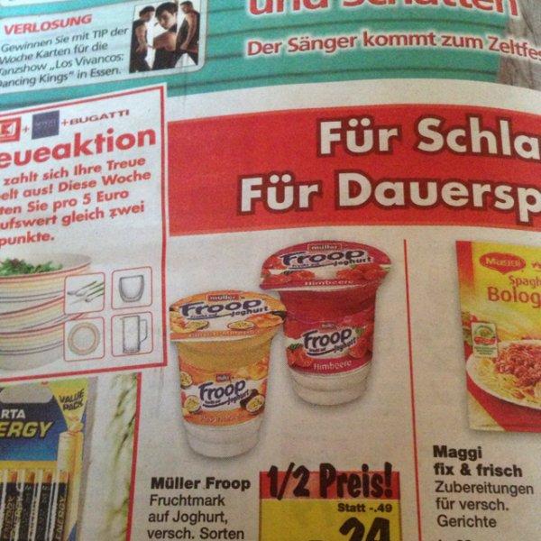 (Kaufland) Müller FROOP 50% reduziert für 0,24 Euro