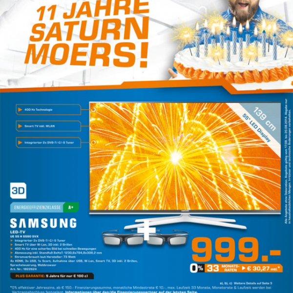 (Lokal Moers) Saturn Moers feiert 11 Jahre... z.b Samsung 55 H 6590 für 999€ oder Bose Cinemate 1SR für 999€
