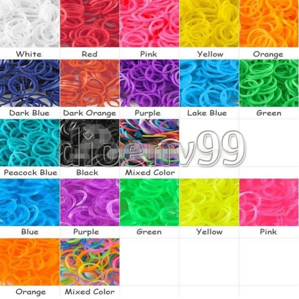 600 Gummibänder (für Armbänder z.B.) in vielen Farben für 1,23€ auf Ebay (China)