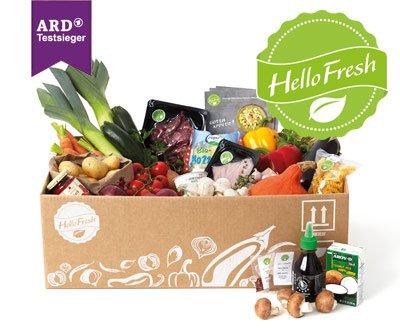 HelloFresh Gutschein für zwei Boxen mit 3 Mahlzeiten für 2 Personen bei Dailydeal