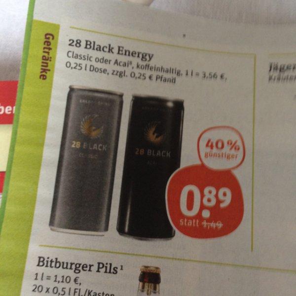 28 Black für 0,89 € zzgl. 0,25€ Pfand bei tegut
