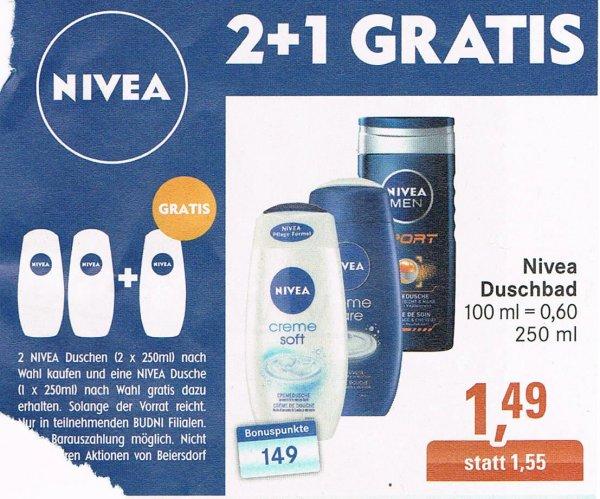 [Budnikowsky] Nivea Creme Care Dusche. 3 Flaschen für 1,48€