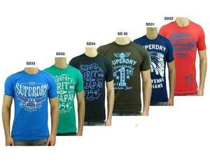 MP: SUPERDRY Premium T-Shirt Herren 6 Modelle