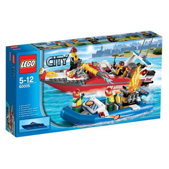 @real.de: LEGO City, 60005 Feuerwehr-Boot ab 19€ (bei Marktanlieferung)