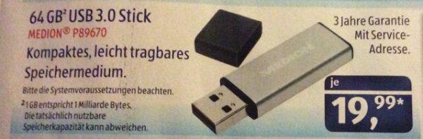64 GB USB 3.0 Stick [Aldi Süd]