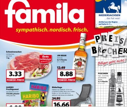 Jim Beam 0,7L für 8,88 € Powerpreis bei Famila ab dem 15.08. ( Emsland / Ostfriesland )