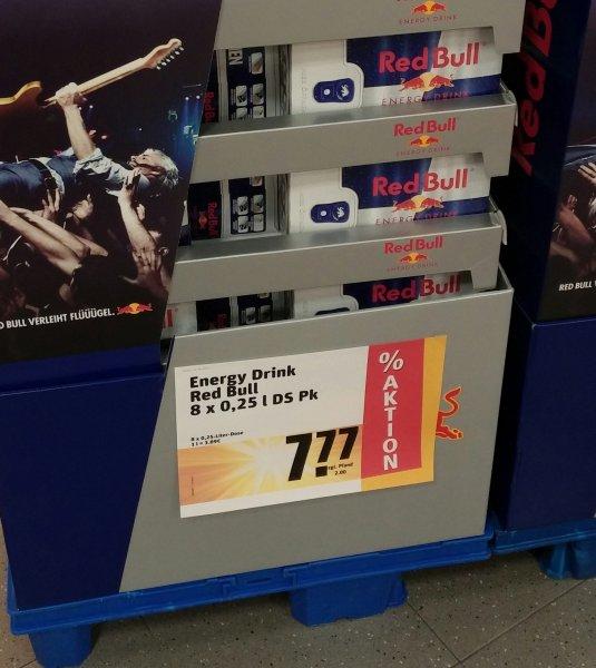 RedBull 8x 0,25L für 7,77€