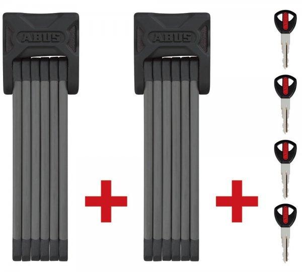 ABUS Faltschloss Bordo Twinset 6000/90, black, 2 x 90 cm