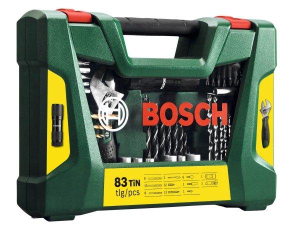 Bosch 83-tlg. TiN Bohrer- und Bit-Set + LED-Taschenlampe + Rollgabeschlüssel für 26,95€ frei Haus @Ebay