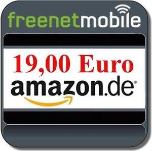 Kostenlose freenetMobile SIM-Karte + 19,00 € Amazon Gutschein