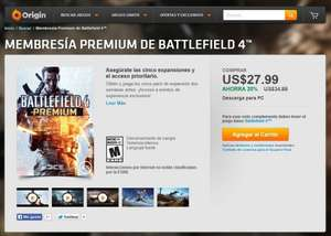 Battlefield 4 - Premium (PC) für 21,69€ per Origin Mexiko