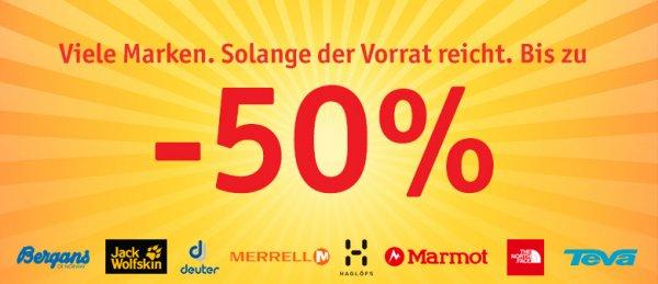 Sommerschlussverkauf bei Globetrotter - bis zu 50% reduziert