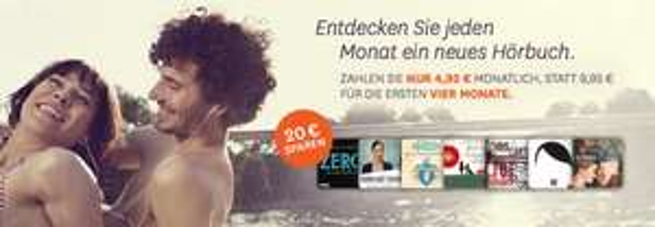 4 Monate Hörbuch-Abo @Audible für nur je 4,95 Euro