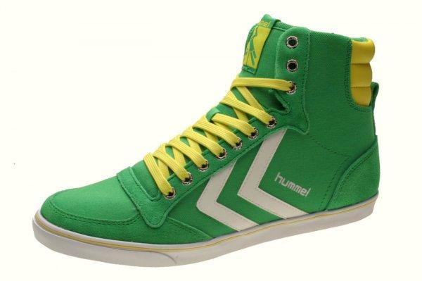 Hummel Slimmer Stadil High Sneakers grün-gelb