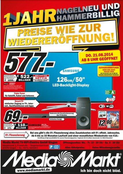[Mediamarkt Siegen] Samsung UE50H6270