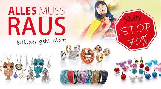 Sale bei Silvity.de (70% Rabatt auf Ohrringe u.v.m.)