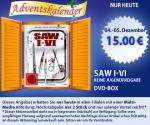 SAW I-VI DVD Box + SAW 3D Kinokarte für 15€ bei Müller
