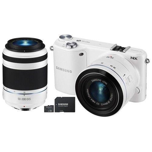 Samsung NX2000 Smart Wifi Mirrorless Interchangeable 2 Lens Camera Bundle