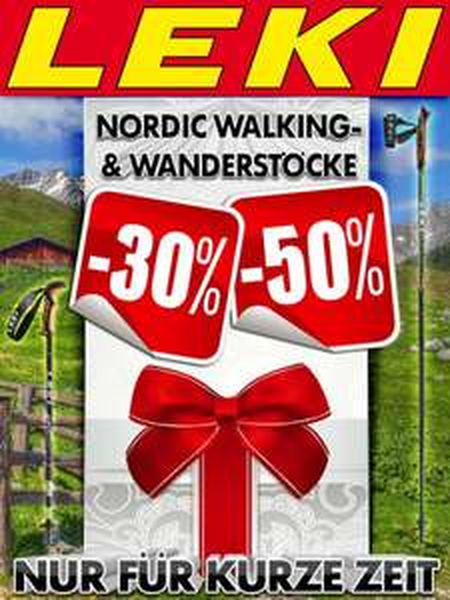 Leki Rabatt Aktion - bspw. -50% auf LEKI Smart Titanium Nordic Walking Stöcke uvm...