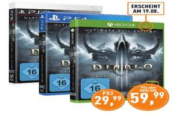 Diablo III Reaper of Souls Ultimate Evil Edition für PS3 - 29,99€ [Berlet Lokal]