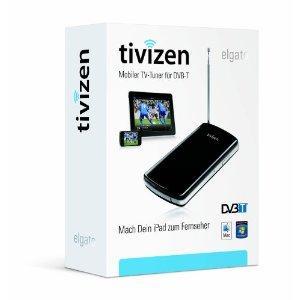 Elgato Tivizen Mobiler kabelloser TV-Tuner für iPad, iPhone, iPod touch und Computer, schwarz