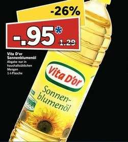 [LIDL SUPER SAMSTAG] 1 Liter Sonnenblumenöl am 30.08.2014