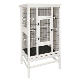 PETOBEL Kerbl Vogelvoliere aus Holz weiß XXL für 80,35€ Vergleichspreis ca.130€