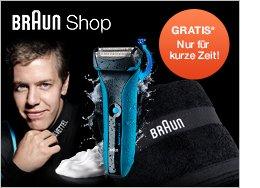 Braun WaterFlex Handtuch gratis / *Beim Kauf eines Braun WaterFlex Wet&Dry Rasierers