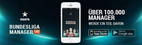 [iOS&Androi] Der Bundesliga Manager LIVE: Hinrunde kostenlos als Pro Manager