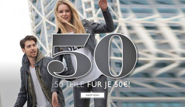 50 Artikel für je 50 € bei Styleicone.com (Lacoste, True Religion, Tiger of Sweden, Fred Perry uvm.)
